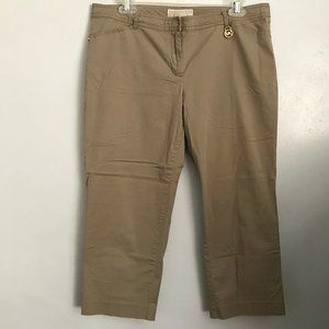 MICHAEL KORS Tan Cropped Pants